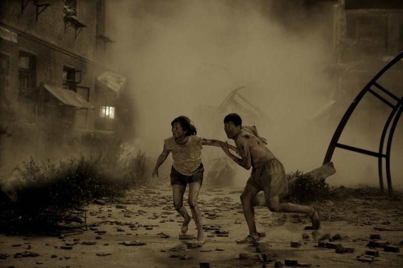 Una scena del film Aftershock