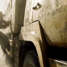 Una scena del film Wind Blast