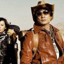 Zhang Li e Francis Ng nel film Wind Blast