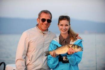 Marica Cicoria e Massimiliano Mariola presentano il programma Lei pesca, lui cucina