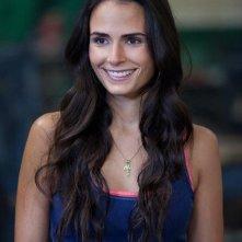 Una sorridente Jordana Brewster in una scena di Fast & Furious 5
