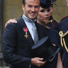 I Beckham al royal wedding del Principe William e Kate Middleton
