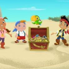 Un momento della serie animata Jake e i Pirati dell'Isola che non c'è