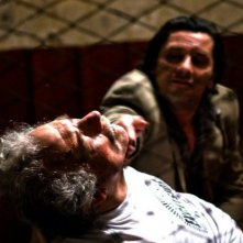 Giorgio Colangeli in una sequenza del film Tatanka