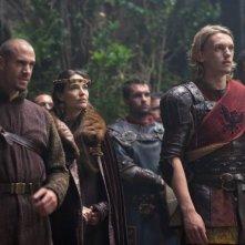 Joseph Fiennes e Jamie Campbell Bower in una scena di Camelot