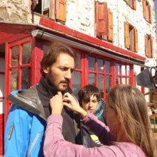 Luigi Iacuzio sul set del film La misura del confine