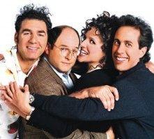 Un'immagine promozionale per la serie tv Seinfeld e i suoi protagonisti