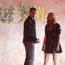 Jennifer Lawrence e Anton Yelchin in una scena del film Mr. Beaver