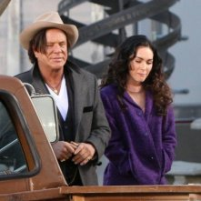 Mickey Rourke e Megan Fox sul set del film Passion Play