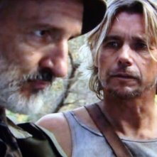 Christopher Atkins e Michael Gross in 100 million BC - La guerra dei dinosauri (2008)