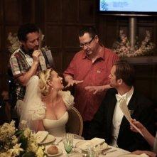 Kirsten Dunst discute con Lars Von Trier sul set di Melancholia