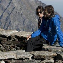 Luigi Iacuzio con Adriana Ortolani in una scena del film La misura del confine