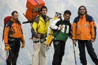 Rolando Alberti, Tommaso Spinelli, Paolo Bonanni e Thierry Toscan nel film La misura del confine