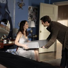 Blair (Leighton Meester) e Louis (Hugo Becker) nell'episodio The Princesses and the Frog di Gossip Girl