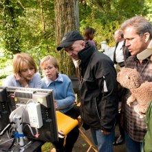 Jodie Foster con Mel Gibson sul set del film Mr. Beaver