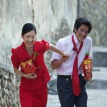 Zhang Ziyi e Aaron Kwok nel film Mo shu wai zhuan