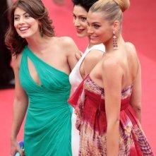Cannes 2011: Claudia Zanella, Alessandra Mastronardi e Giulia Bevilacqua - tre 'sorelle bandiera' sul tappeto rosso