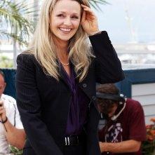 Cannes 2011: l'affascinante Rachael Blake durante il photocall di Sleeping Beauty