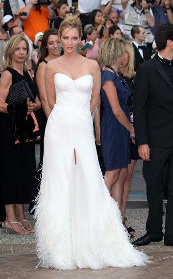 Festival di Cannes 2011: la bellissima Uma Thurman durante la serata inaugurale