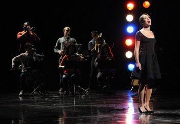 Lea Michele nell'episodio Funeral di Glee