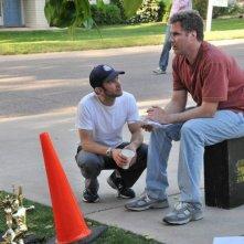 Will Ferrell sul set del film Everything Must Go con Dan Rush