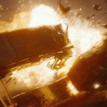 Un'immagine dello spettacolare incidente ferroviario di Super 8