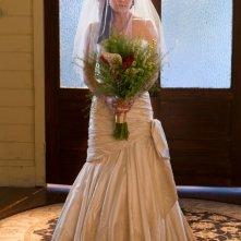 La splendida Erica Durance in abito da sposa nell'episodio Finale di Smallville