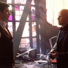 Tom Welling e Michael Rosenbaum nell'episodio Finale di Smallville