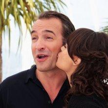 Cannes 2011: l'attore Jean Dujardin presenta The Artist accanto a Berenice Bejo