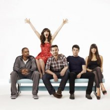 Poster promozionale per la comedy series New Girl, con Zooey Deschanel