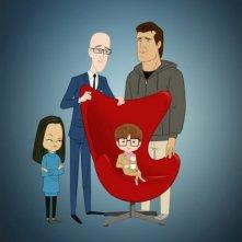 Un poster promozionale per la serie animata Allen Gregory