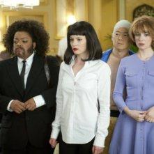 Yvette Nicole Brown, Gillian Jacobs, Ken Jeong ed Alison Brie nell'episodio Critical Film Studies di Community