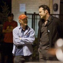 Ron Howard e Vince Vaughn sul set della commedia Il Dilemma