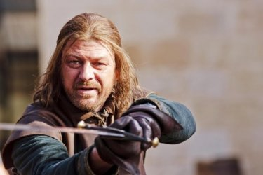 Sean Bean nell'episodio The Wolf and the Lion di Game of Thrones