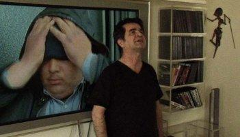 Una immagine di Jafar Panahi nella pellicola In Film Nist