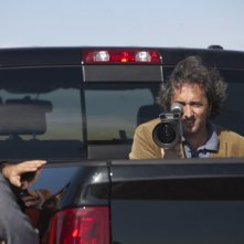 Il regista Paolo Sorrentino sul set del suo This Must Be the Place.