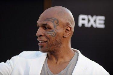Mike Tyson alla premiere hollywoodiana di Una notte da leoni 2