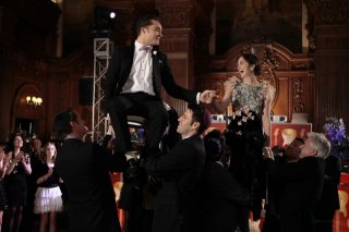 Chuck (Ed Westwick) e Blair (Leighton Meester) in una scena dell'episodio The Wrong Kiss Goodnight di Gossip Girl