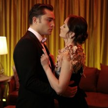 Ed Westwick e Leighton Meester nell'episodio The Wrong Kiss Goodnight di Gossip Girl