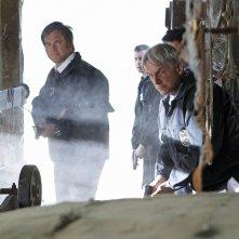 Michael Weatherly, Sean Murray e Mark Harmon nell'episodio Swan Song di NCIS