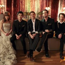 The Airborne Toxic Event sul set dell'episodio The Wrong Kiss Goodnight di Gossip Girl