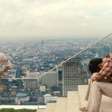 Bradley Cooper con Ed Helms e Zach Galifianakis in un'immagine di Una notte da leoni 2