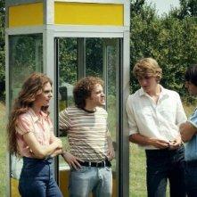 Francesco Mistichelli con Alan Cappelli e Matteo Ripaldi nel film-tv Notte prima degli esami '82
