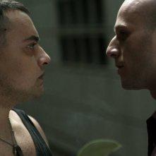 Michele Botrugno e Fabio Gomiero in una scena del film Et in terra pax