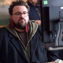 Il regista Kevin Smith sul set del film Zack and Miri