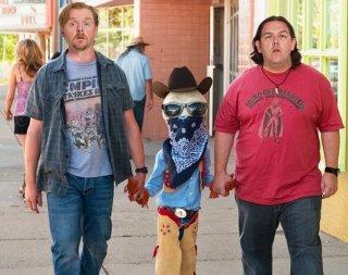Nick Frost  e Simon Pegg a spasso con l'alieno nella commedia Paul