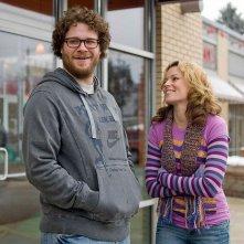 Seth Rogen ed Elizabeth Banks in un'immagine del film Zack and Miri