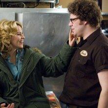 Seth Rogen ed Elizabeth Banks, protagonisti del film Zack and Miri