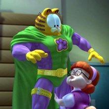 Garzooka in una scena tenera di Garfield il supergatto