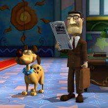Jon Arbuckle e Odie nel film Garfield il supergatto
